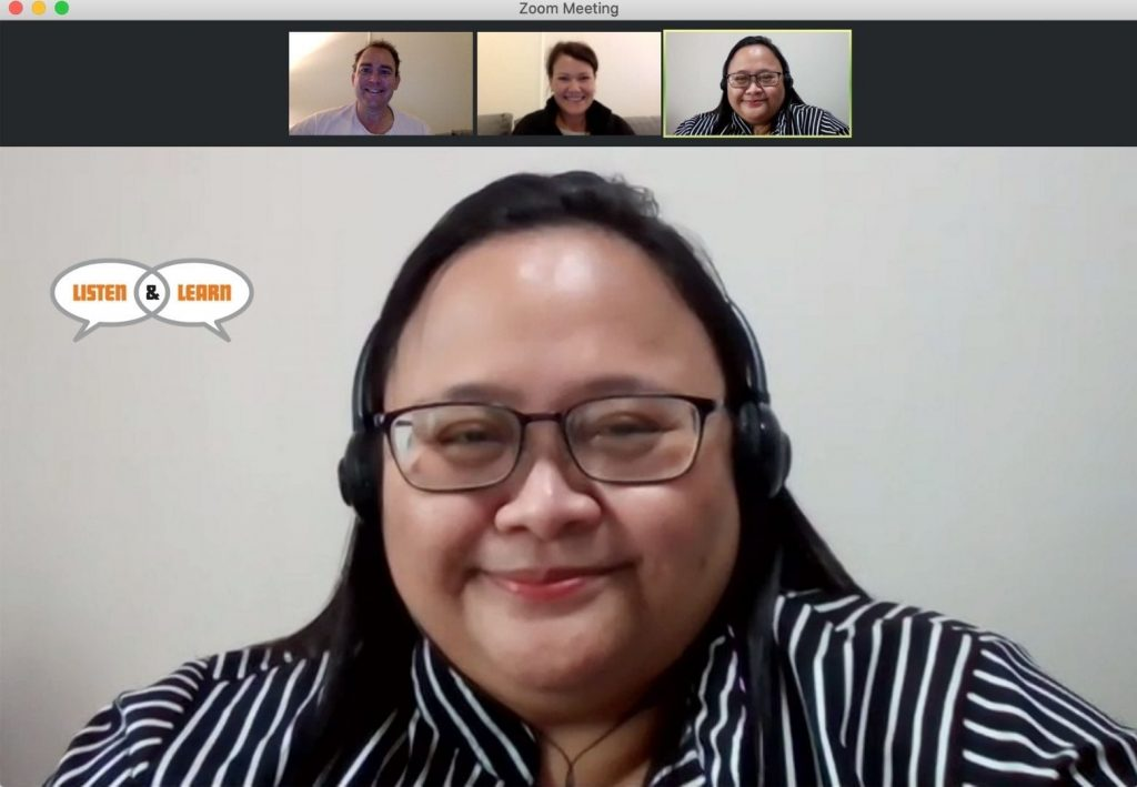 Our Thai instructor, Areeluck, teaching an online group class. - Online Language Training